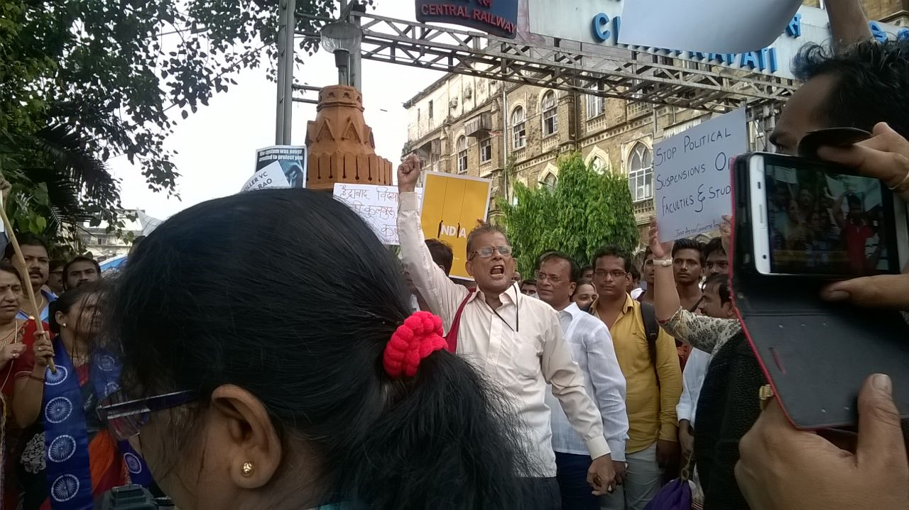 Joint Action Committee for Social Justice Mumbai protest at CST