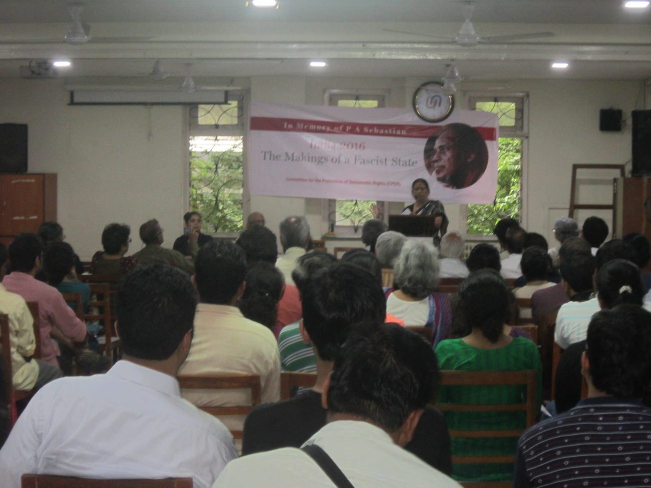 Bastar, Sudha Bharadwaj speaking at P.A sebastian memorial lecture at Nirmala Niketan College of Social work
